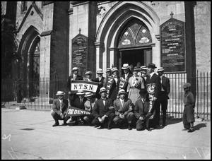 Primary view of object titled '[NTSN Students at a Cathedral in San Antonio, Texas]'.