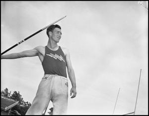 Primary view of object titled '[Photograph of Track Team Member]'.