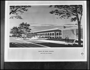 Primary view of object titled '[Speech and Drama Building]'.