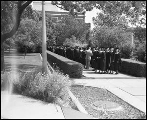 Primary view of object titled '[Commencement line up, 1942]'.