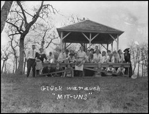 Primary view of object titled '[Students at Gazebo]'.
