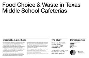 Food Choice and Waste in Texas Middle School Cafeterias