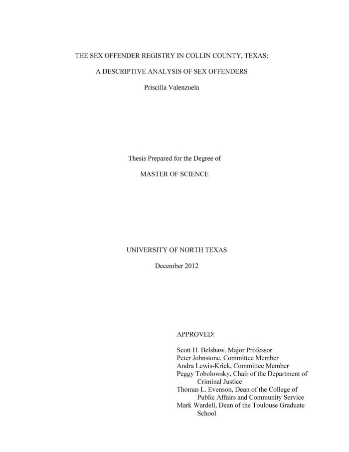 Texas dept sex offender database