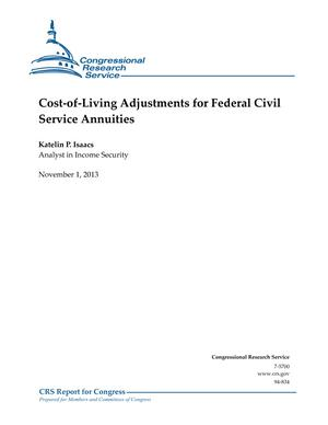 Cost-of-Living Adjustments for Federal Civil Service Annuities