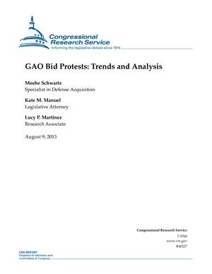 GAO Bid Protests: Trends and Analysis
