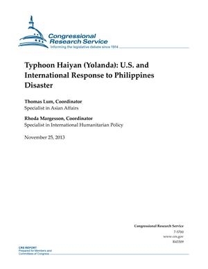 Typhoon Haiyan (Yolanda): U.S. and International Response to Philippines Disaster