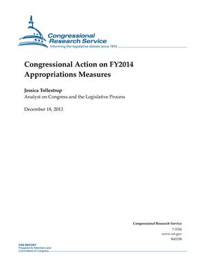 Congressional Action on FY2014 Appropriations Measures