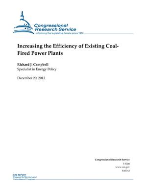 Increasing the Efficiency of Existing Coal- Fired Power Plants