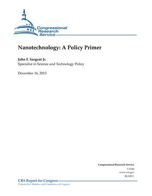 Nanotechnology: A Policy Primer