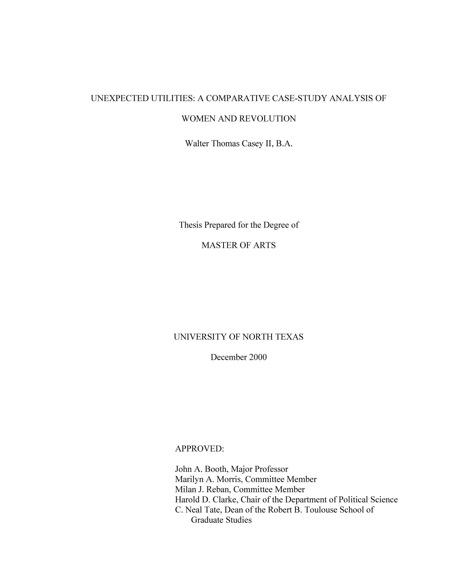 Dissertation for the degree of doctor of science in political science