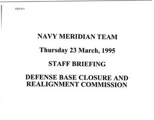 Primary view of object titled 'Navy - Meridian Team Staff Briefing, March 1995'.