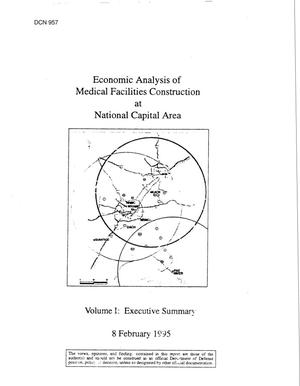 Primary view of object titled 'JCSG - MED 12 & 13 Economic Analysis - Medical Facilities, NCR; Comprehensive Study of Military Health Service System'.