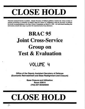 Primary view of object titled 'JCSG - Test & Evaluation Volume 4; Meeting Minutes 11/8 & 16 1994'.