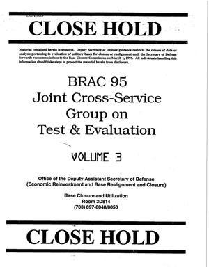 Primary view of object titled 'JCSG - Test & Evaluation Volume 3'.