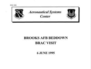 Primary view of object titled 'Brooks Air Force Base - Presentation; Construction Project Data; Memorandum'.