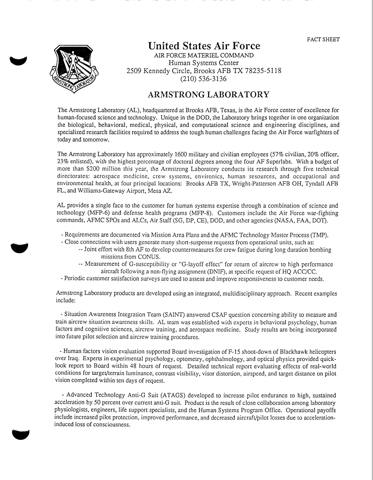 brooks air force base analysis and recommendations