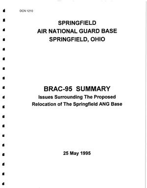Primary view of object titled 'Springfield Air National Guard, OH - Cost of Base Realignment Scenarios/Fact Sheets/Community Briefings'.
