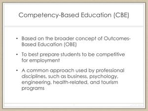 Competency-Based Approach for Curriculum Development in