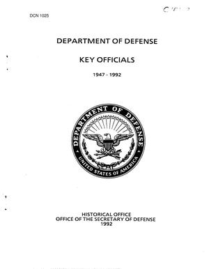 Primary view of object titled 'Department of Defense Key Officials 1947-1992'.