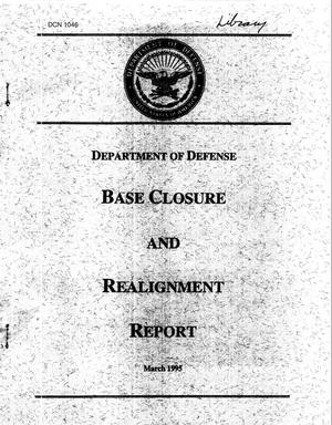 Primary view of object titled 'DoD Base Closrue and Realignment Report, March 1995'.