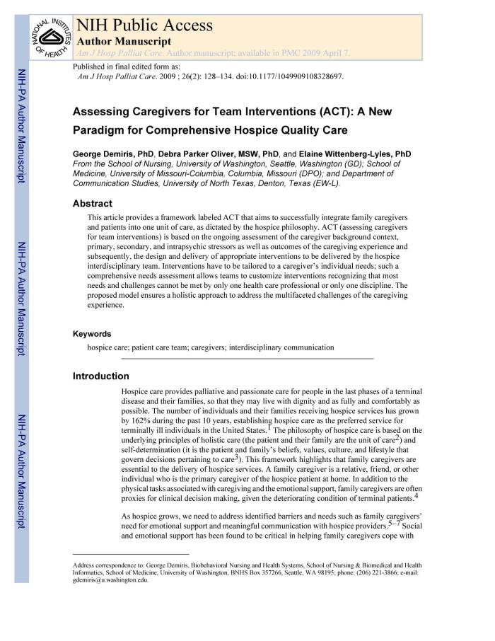 Intervention Team Team Interventions Act