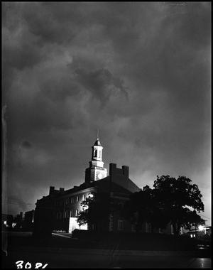 Primary view of [Storm at North Texas State University]