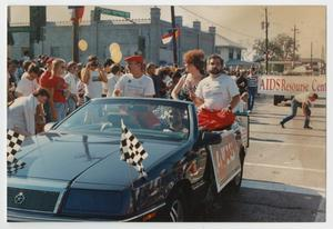 Primary view of object titled '[AIDS Update Float at Alan Ross Texas Freedom Parade]'.