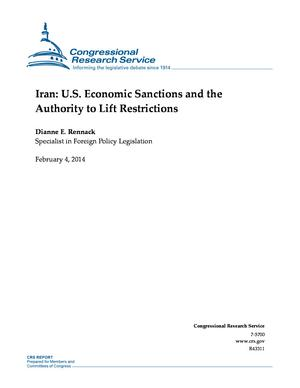 Iran: U.S. Economic Sanctions and the Authority to Lift Restrictions