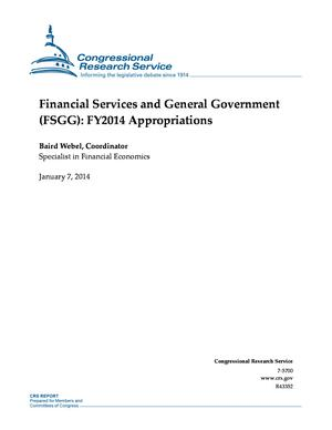 Financial Services and General Government (FSGG): FY2014 Appropriations