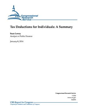 Tax Deductions for Individuals: A Summary