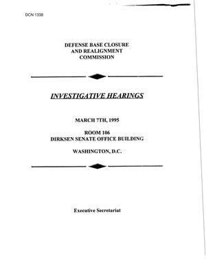 Primary view of object titled 'Investigative Hearings - March 7, 1995'.