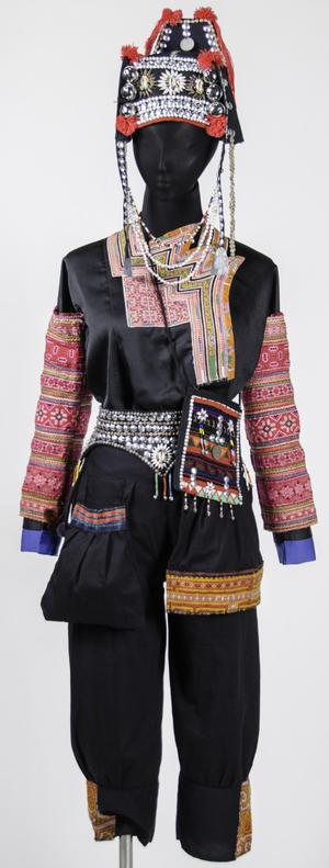Primary view of object titled 'Festival Attire - Akha Hill Tribe'.