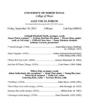 College of Music Program Book 2012-2013: Scholarships