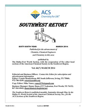 Primary view of object titled 'Southwest Retort, Volume 66, Number 7, March 2014'.