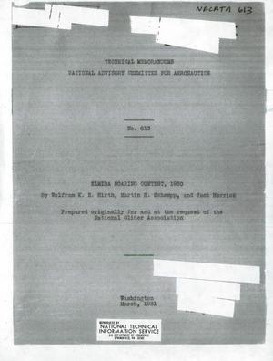 Primary view of Elmira Soaring Contest, 1930