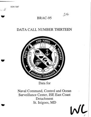 Primary view of object titled 'Naval Command, Control, and Ocean Surveillance Center, In Service Engineering East Coast Detachment, St. Inigoes, MD - Data Call'.