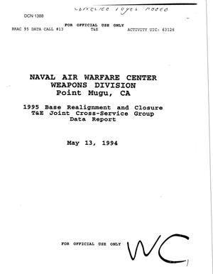 Primary view of object titled 'Naval Air Warfare Center, Point Mugu, CA - Data Call'.