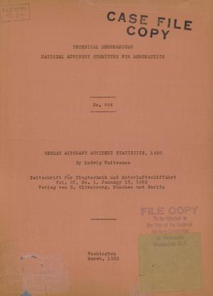 Primary view of object titled 'German aircraft accident statistics, 1930'.