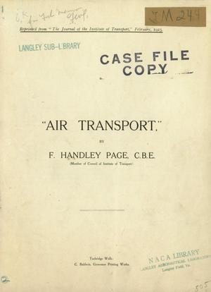 Primary view of object titled 'Air transport'.
