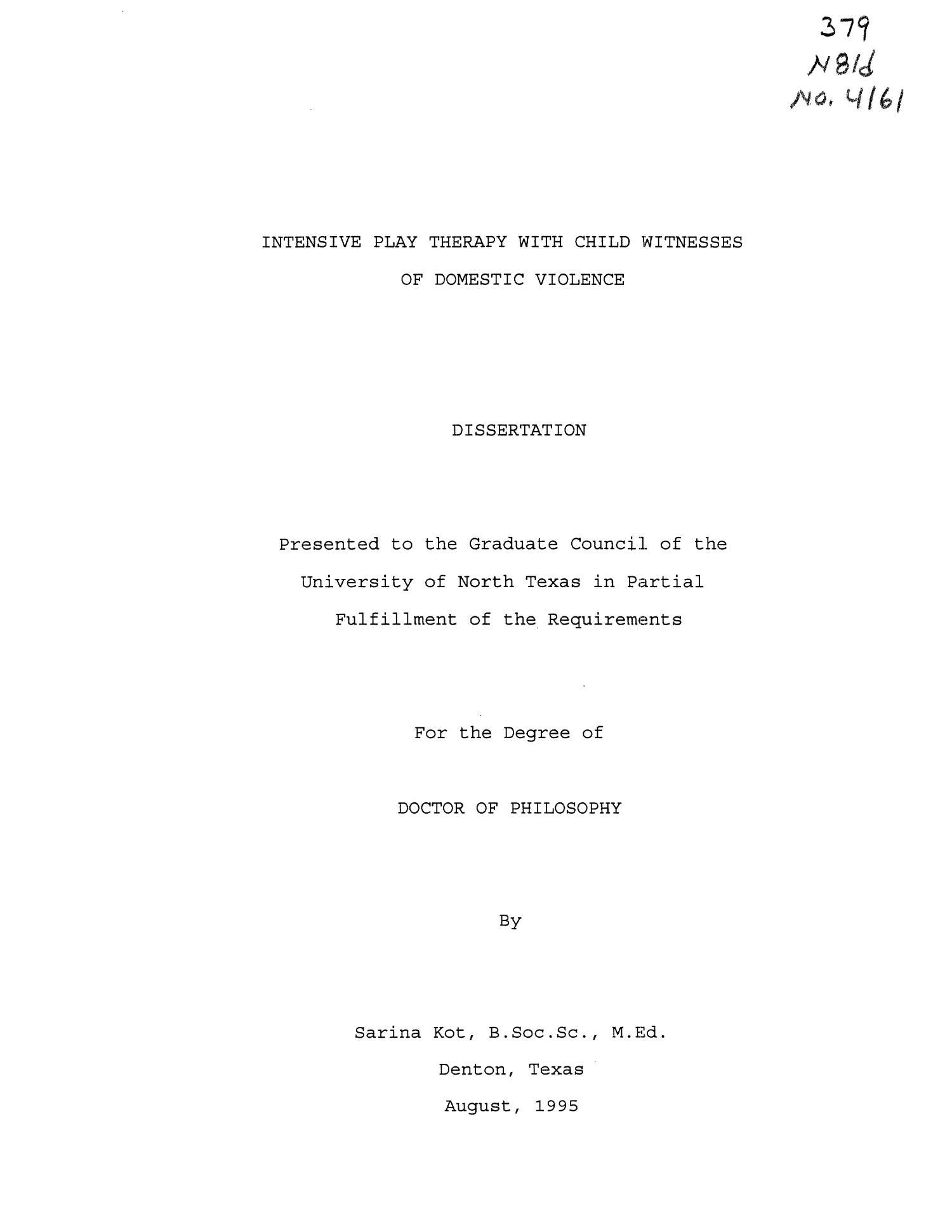 domestic violence dissertation titles