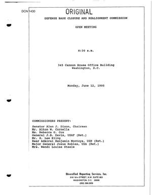 Primary view of object titled 'Congressional Hearing Transcript June 12, 1995'.