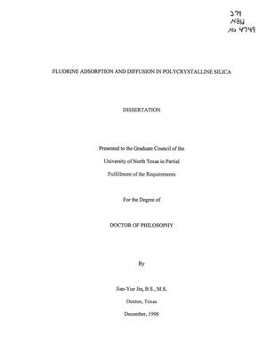 Primary view of Fluorine Adsorption and Diffusion in Polycrystalline Silica