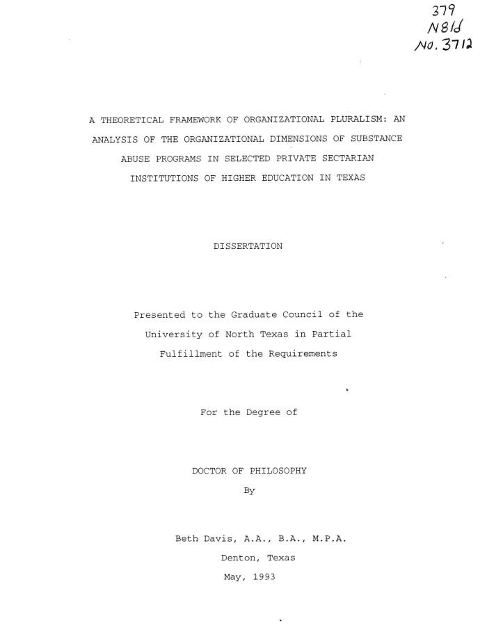 theoretical framework dissertation