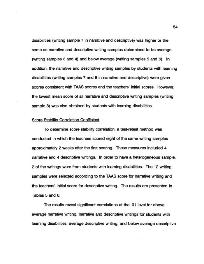 Narrative descriptive essay