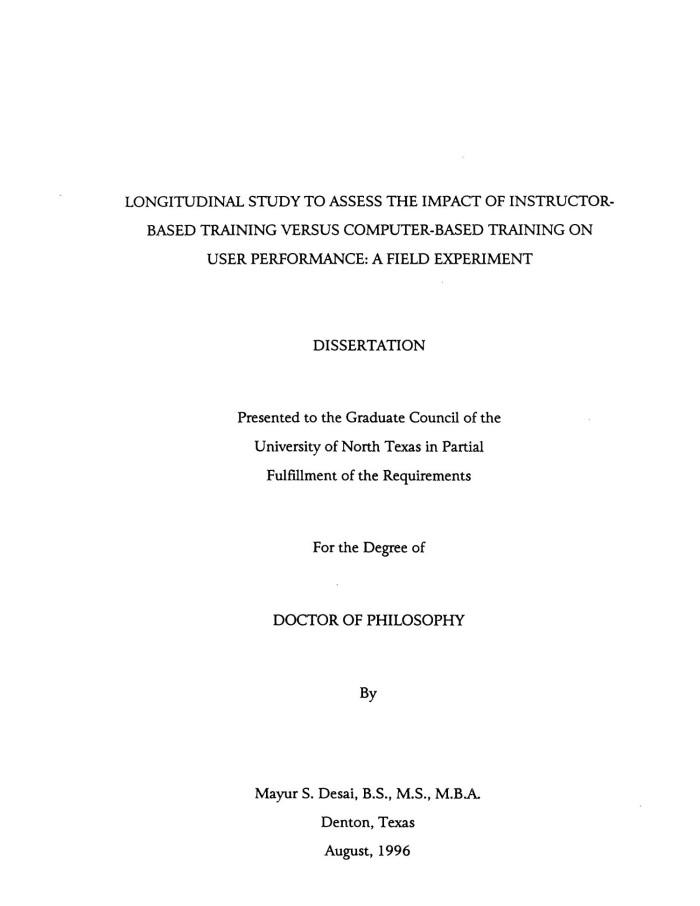 Dissertation on computer based training admission college essay help mba