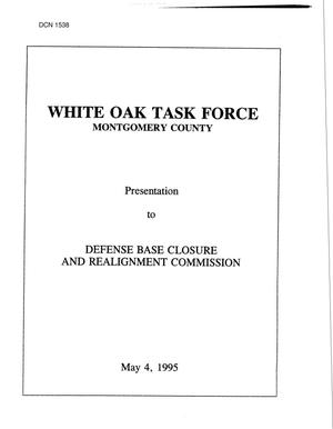 Primary view of object titled 'Navy - White Oak Naval Surface Warfare Center, MD, May 1995 Base Visit'.