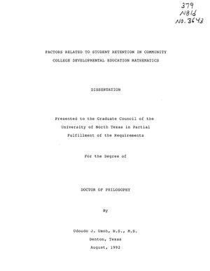 Dissertation community college student retention