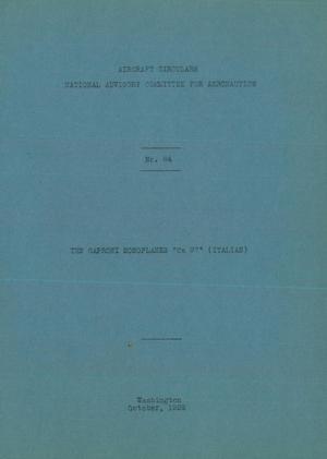 "Primary view of The Caproni Monoplanes ""Ca 97"" (Italian)"