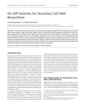 Primary view of object titled 'On-Off Switches for Secondary Cell Wall Biosynthesis'.