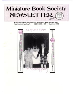 Primary view of object titled 'Miniature Book Society Newsletter 1990 October'.